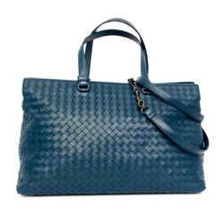 Brand New in Box Bottega Veneta Intrecciato Tote In Teal Blue / Detachable Shoulder Strap / New In Box