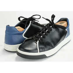 Prada Leather Sneakers - Black/Blue/White