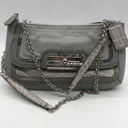 Coach Grey Chain Strap Bag