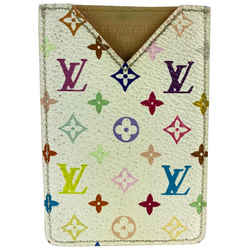 Louis Vuitton White Monogram Multicolor Card Holder or Mirror Case 27LVL1125