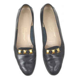 Ferragamo Black Low Heeled Loafers