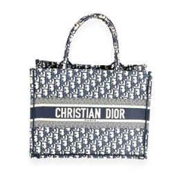 Dior Blue Oblique Embroidery Small Book Tote