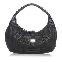 Black Fendi Spy Leather Handbag Bag