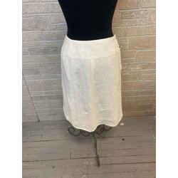 Chanel White Linen Skirt