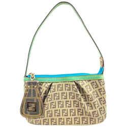 Fendi Monogram FF Zucca Pochette Shoulder Bag Wristlet 2F101