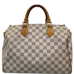 Louis Vuitton Speedy 30 Damier Azur Bandouliere Satchel Bag