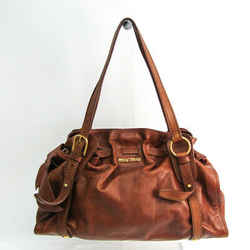 Miu Miu Women's Leather Handbag Brown Bf512631
