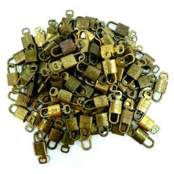 LOUIS VUITTON Cadena Padlock & Key 100 Piece Set Gold Brass France