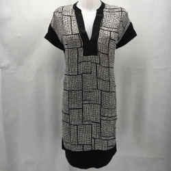 Vince Black Short Sleeve Dress Medium