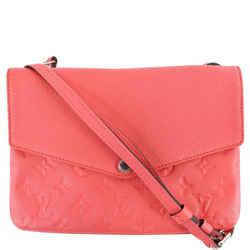 Twice Monogram Empreinte Leather Crossbody Bag Dahlia