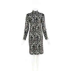 Versace Dress Black Cross Macrame Open Back SZ 38