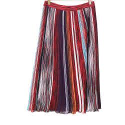 Missoni Red Purple Striped Skirt sz 8