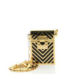 Nicole Evening Box Bag Chevron Metal and Enamel Mini