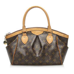 Vintage Authentic Louis Vuitton Brown Monogram Tivoli PM France