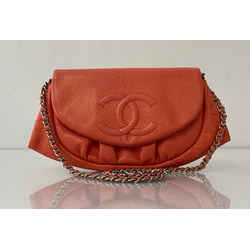CHANEL Caviar Leather Moon Crossbody in Peach