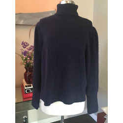Frame Size S/p Navy Wool Allpaca Turtleneck Sweater Nwt - 1057-26-11119