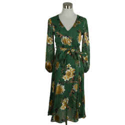 Alice + Olivia Green Floral Dress Sz. 0