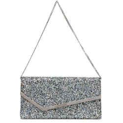 Jimmy Choo Erica Shaded Fine Multi Glitter Fabric Handbag DIR/000064