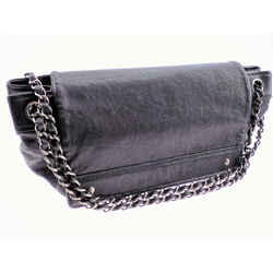 Chanel Lambskin Double Chain Shoulder Bag