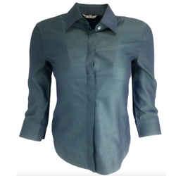 Loro Piana Blue Striped Cotton Shirt Button-Down Top