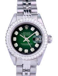 Rolex Lady Datejust 26mm Diamond Dial U Diamond Bezel 1.40ctw Watch