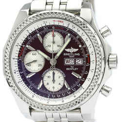 Polished BREITLING Bentley GT Steel Automatic Mens Watch A13362 BF516874