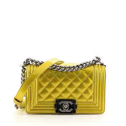 Boy Flap Bag Quilted Patent Small