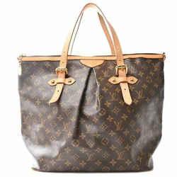 Auth Louis Vuitton Monogram Palermo Gm Shoulder Tote Bag Brown M40146 France