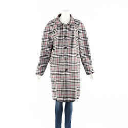 Burberry Coat Gray Black Plaid Cotton Reversible SZ M