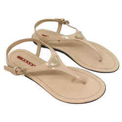 Prada Blush Patent Thong Sandal