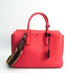 MCM Mirror Women's Leather Handbag,Shoulder Bag Bordeaux,Pink BF515175