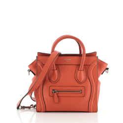 Luggage Bag Grainy Leather Nano