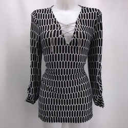 Michael Kors Black Printed Blouse Medium