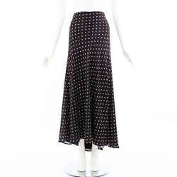 Haider Ackermann Skirt Polka Dot Black Maxi SZ 40