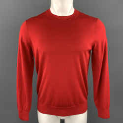 Theory Size M Red Wool Crew-neck Pullover