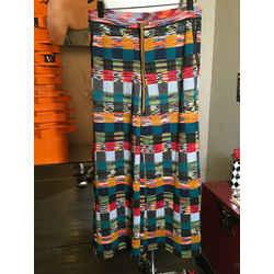 Missoni Size 42 Wool Orange Black Green Knit Square Pants 2400-382-12320