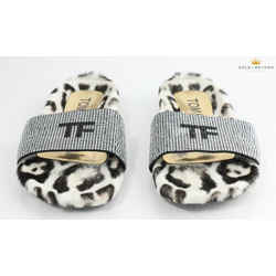 Tom Ford Ecru Fur Sandals