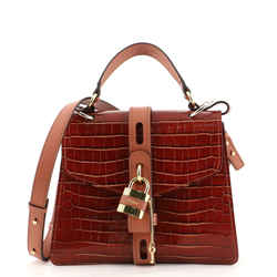 Aby Day Bag Crocodile Embossed Leather Medium