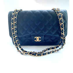 Black Caviar Classic Jumbo Flap Bag Gold Hdw 2009 Entrupy Authenticated
