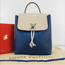 Louis Vuitton Lock Me Backpack in Blue