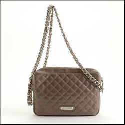 Rdc11372 Authentic Rebecca Minkoff Taupe Quilted Leather Flirty Crossbody Bag