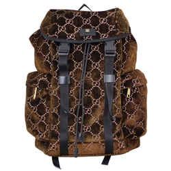 Gucci Gg Medium Velvet Backpack