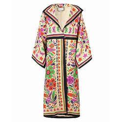 Paradiseprint Linenblend Kimonostyle Coat