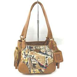 Prada Brown Venice Watercolor Hobo Bag 863208