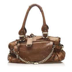 Vintage Authentic Chloe Brown Paddington Capsule Leather Shoulder Bag France