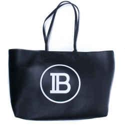 Balmain - New - Large Shoulder Tote Bag - Black Leather Bb Logo