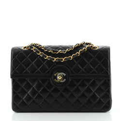 Vintage Two Tone CC Flap Bag Quilted Lambskin Medium