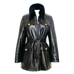 Burberry Buttery Black Leather Jacket Soft Size 6