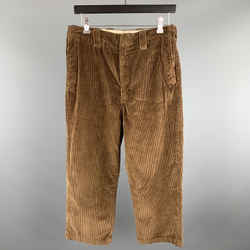Acne Studios Size 30 X 24 Brown Solid Cotton Zip Fly Casual Pants