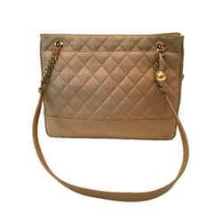 Chanel Vintage Camel Quilted Tote Shoulder Bag 199